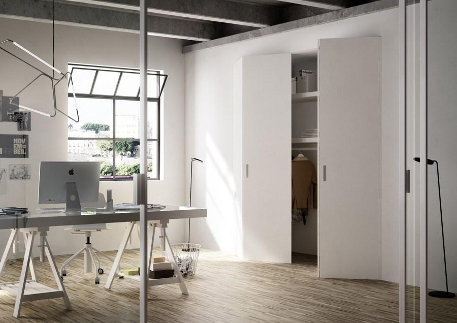 Filomuro soluzioni per separare ambienti idee pavimenti for Porta a libro per cabina armadio
