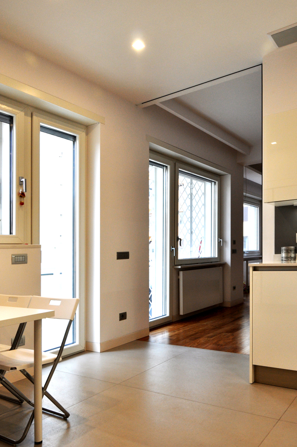 Porta Rimadesio aperta in cucina