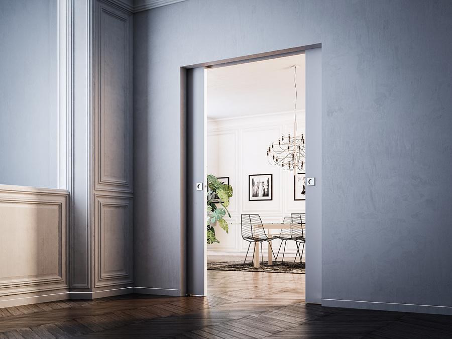 Filomuro soluzioni per separare ambienti idee pavimenti - Porta specchio scorrevole ...