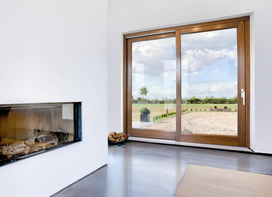 Foto porte finestre scorrevoli in legno di claudia loiacono 544911 habitissimo - Finestre e porte ...