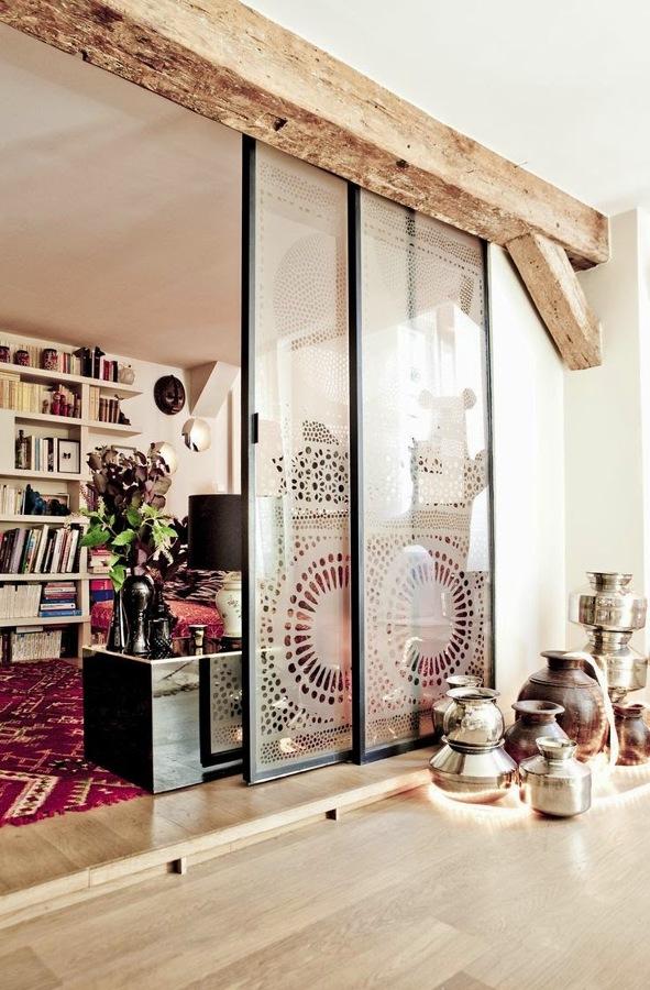 porte in vetro sala