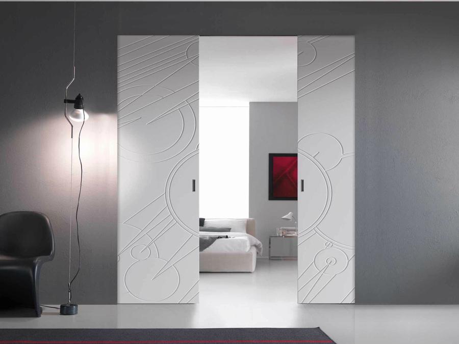 Foto porte scorrevoli filo muro decorate di claudia - Porta filo muro prezzo ...