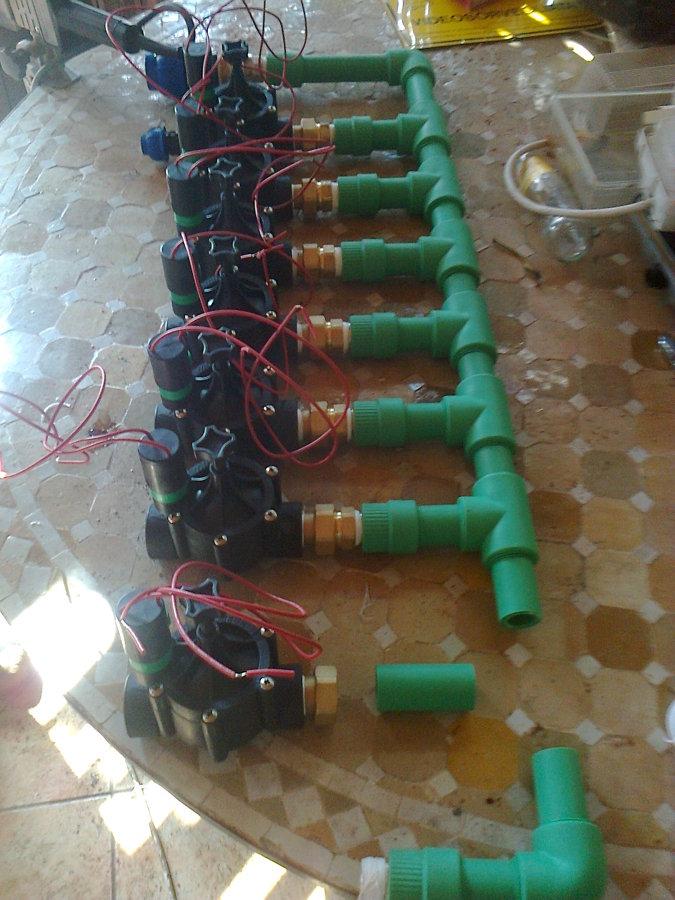 praparazione della batteria di elettrovalvole