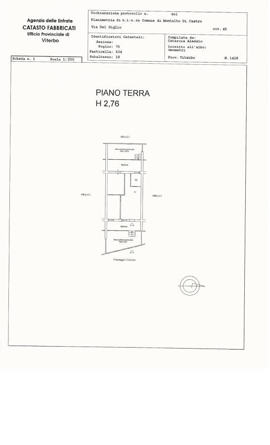 Progetto presentazione planimetria catastale tramite for Planimetrie capannone