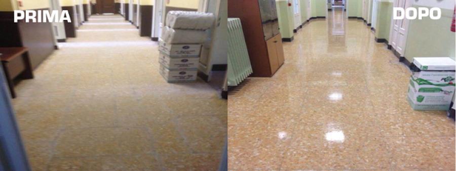 prima e dopo .. pulizia e lucidatura pavimento