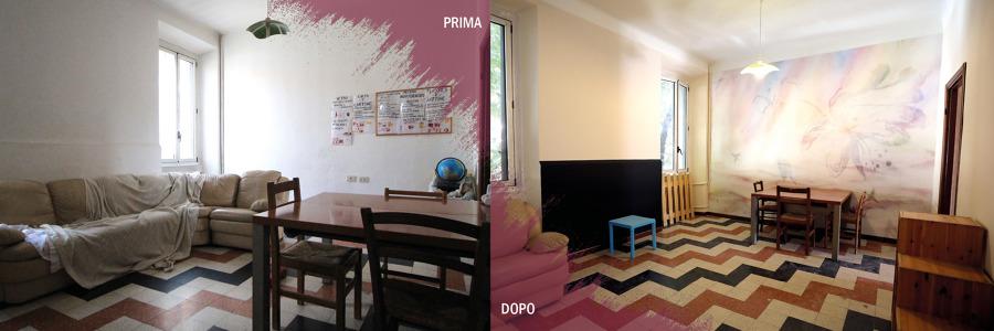 prima e dopo spazio comune