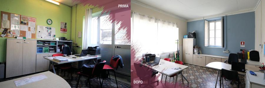 prima e dopo ufficio direzionale