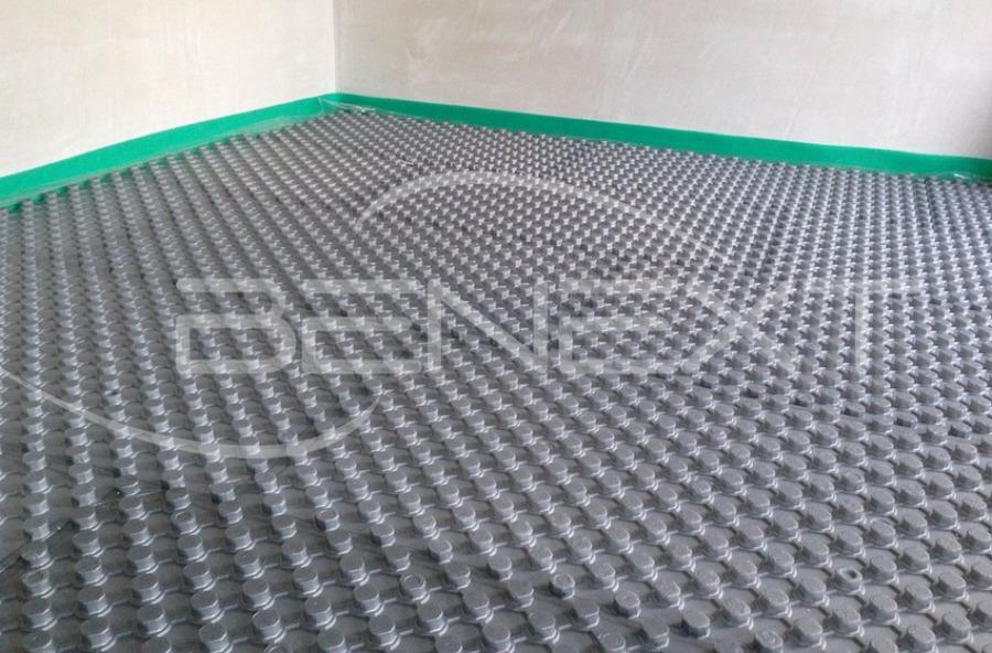 Prima posa pavimento radiante