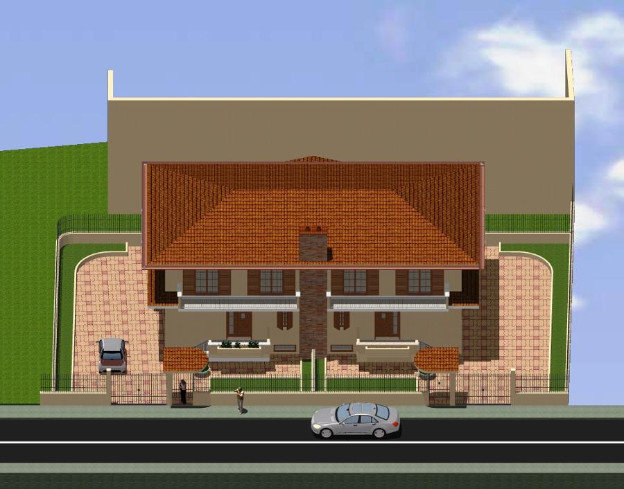 Progetto di fabbricato quadrifamiliare da costruire in for Case realizzate da architetti