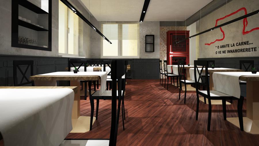 progettazione interna Bar