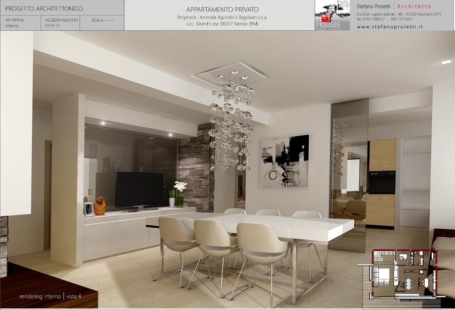 Foto progettazione per un appartamento privato a nerola for Progetto casa 120 mq due piani