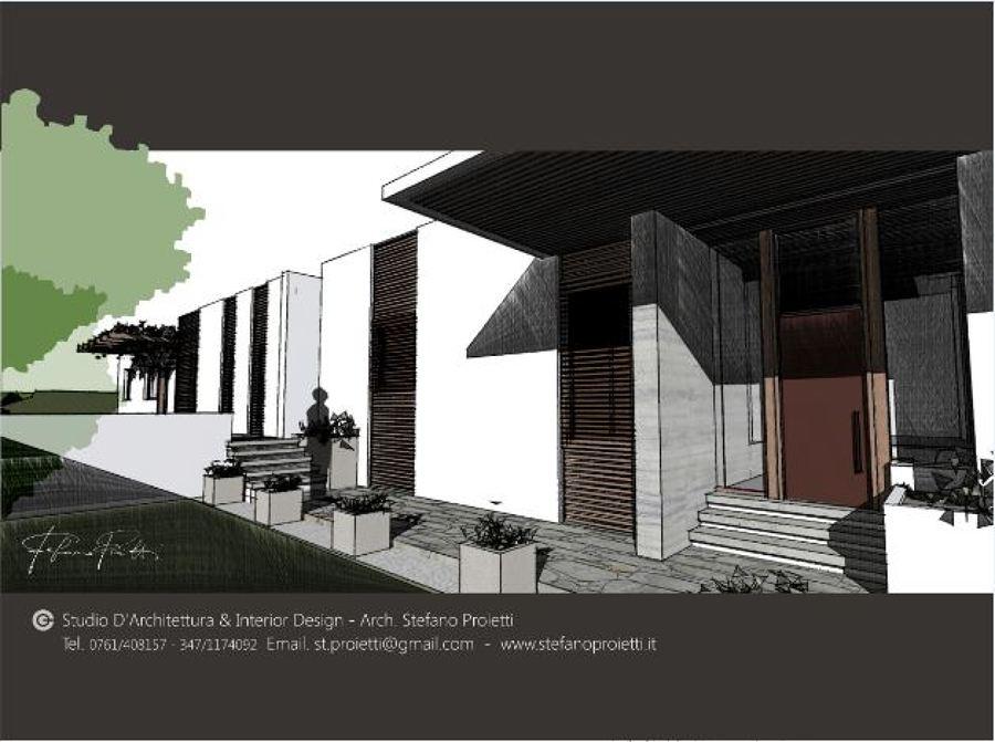 Progettazione per un villa monofamiliare Vasanello (VT)