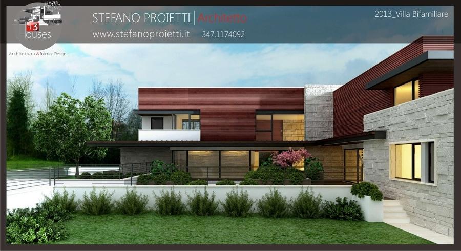 Foto progettazione per una villa bifamiliare in fase di for Piani di progettazione di una villa
