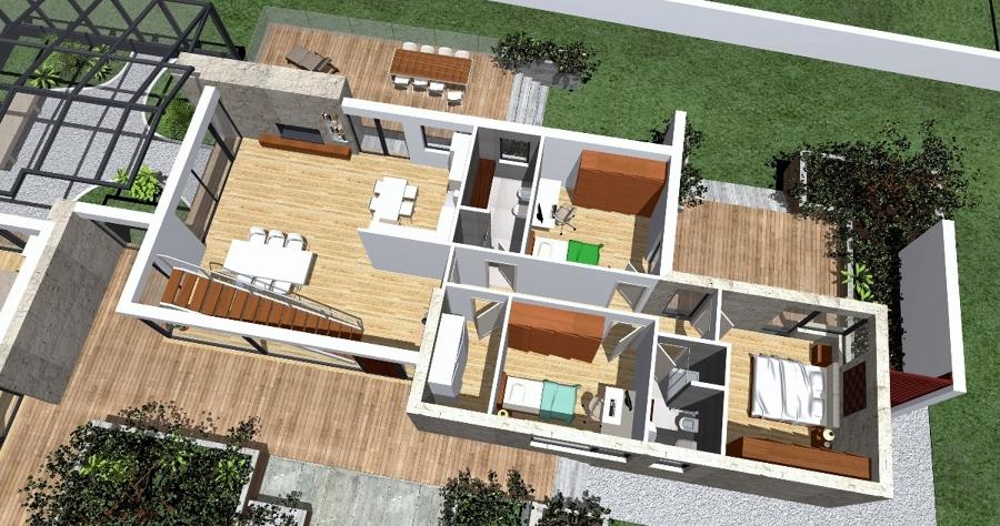 Progettazione per una villa bifamiliare idee costruzione case - Architettura case moderne idee ...