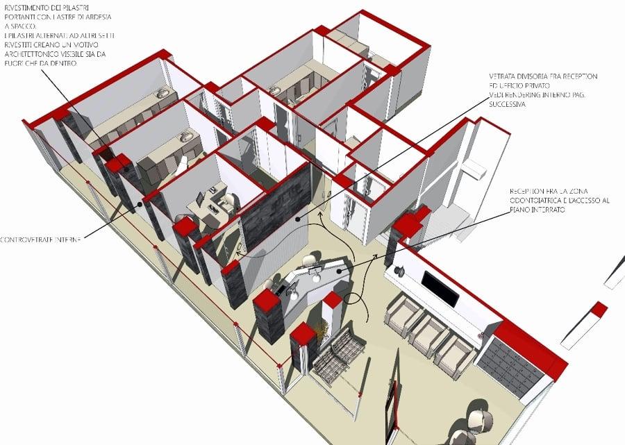 Foto progettazione per uno studio odontoiatrico a terni for Progettazione di architettura online