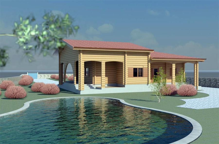 Progetto di una casa in legno interamente personalizzata for Casa di costruzione personalizzata