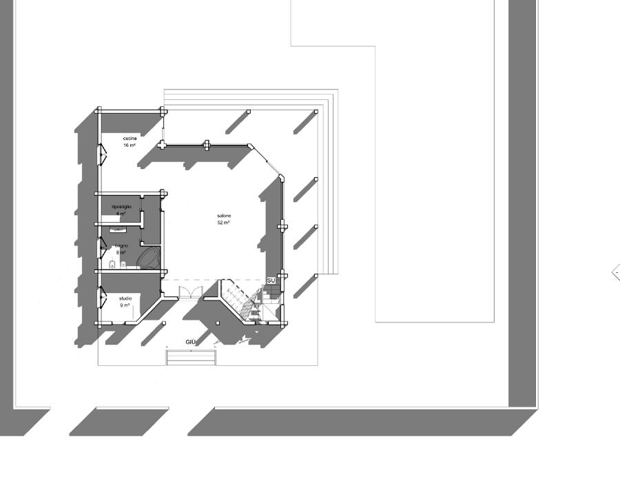 Progetto realizzazione villino in legno su due livelli for Case di livello tri