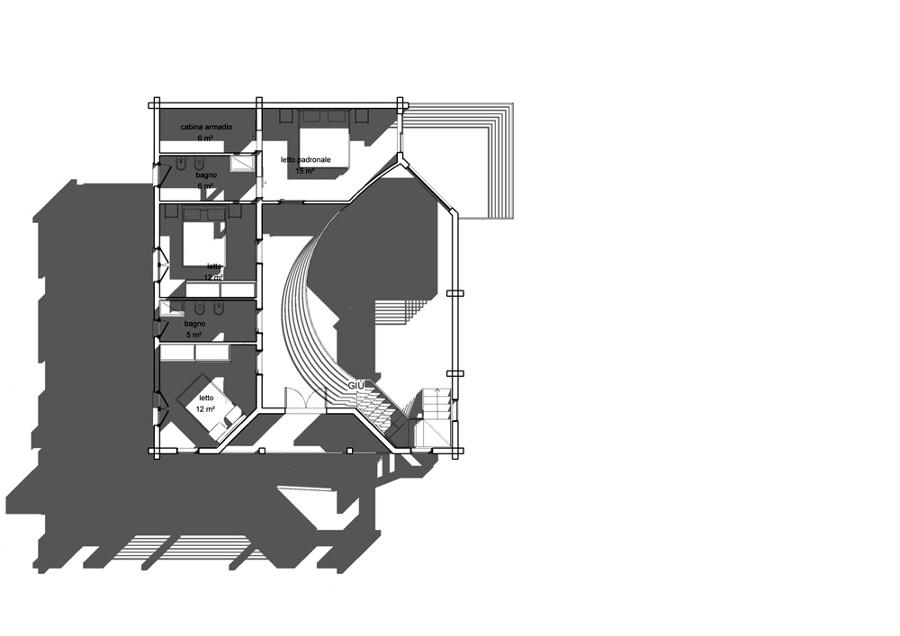 Progetto realizzazione villino in legno su due livelli for Idee seminterrato a due livelli