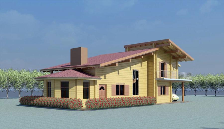 Progetto realizzazione villetta in legno con posto auto for Buone domande per chiedere a un costruttore di casa