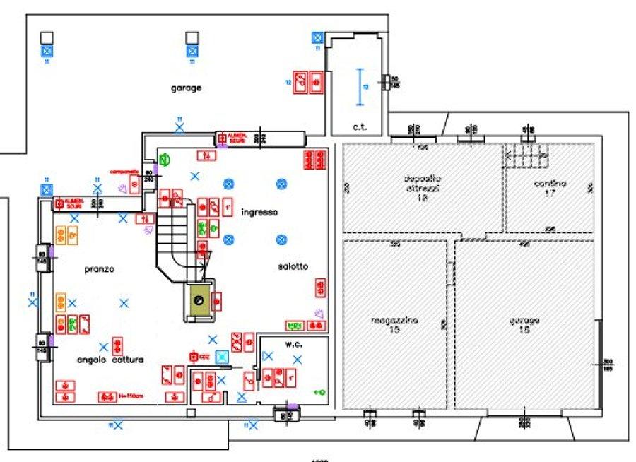 Progetto elettrico ampliamento abitazione privata idee for Planimetrie 1 livello