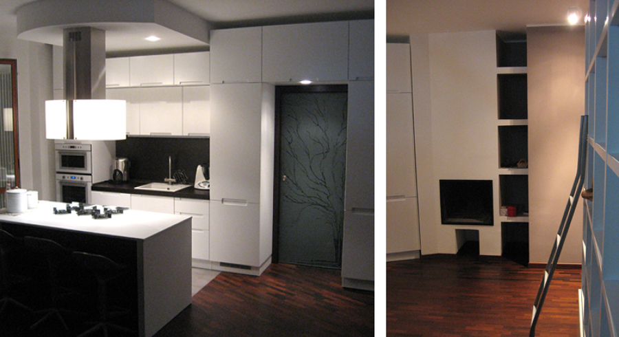 progetto ristrutturazione di appartamento su due livelli a