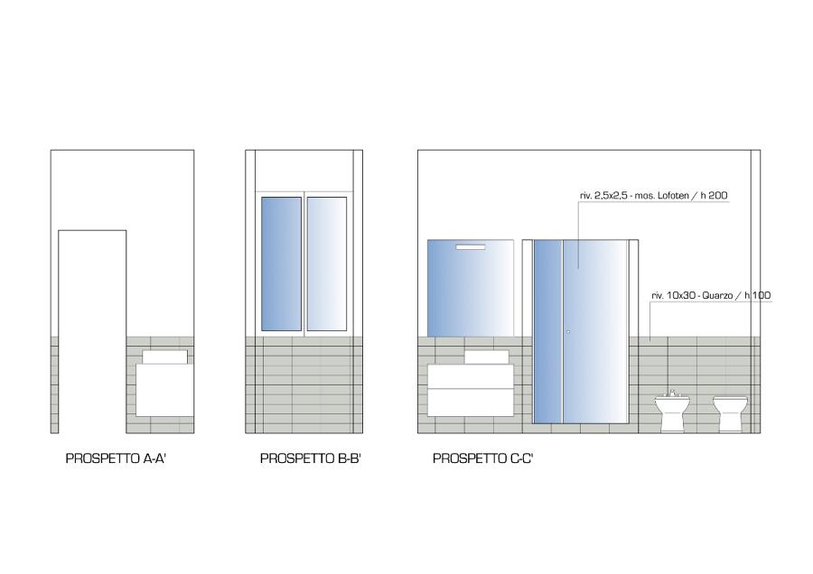 Foto progetto arredo bagno rivestimenti e pavimenti 2 for Progetto arredo