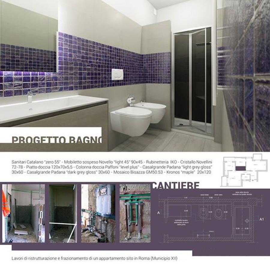 Frazionamento e ristrutturazione completa di un appartamento di 120 mq idee ristrutturazione casa - Progetto bagno paderno ...