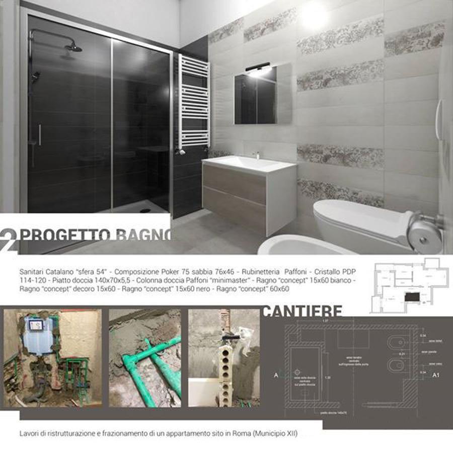 Frazionamento e ristrutturazione completa di un - Progetto bagno 2 mq ...
