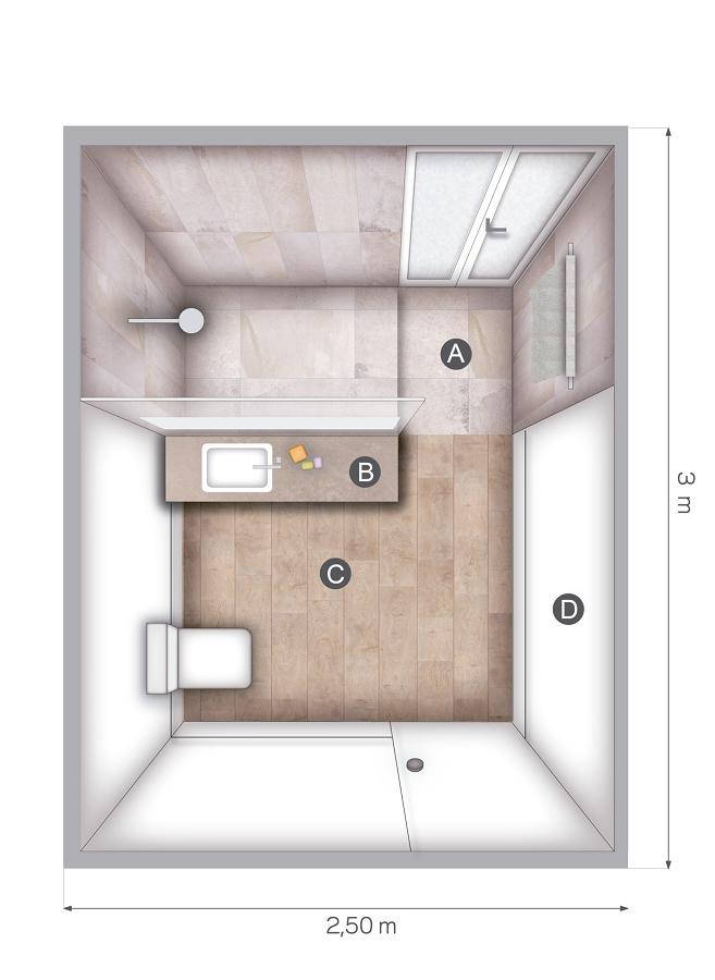 Bagno Rettangolare Progetto - Idee Per La Casa - Syafir.com