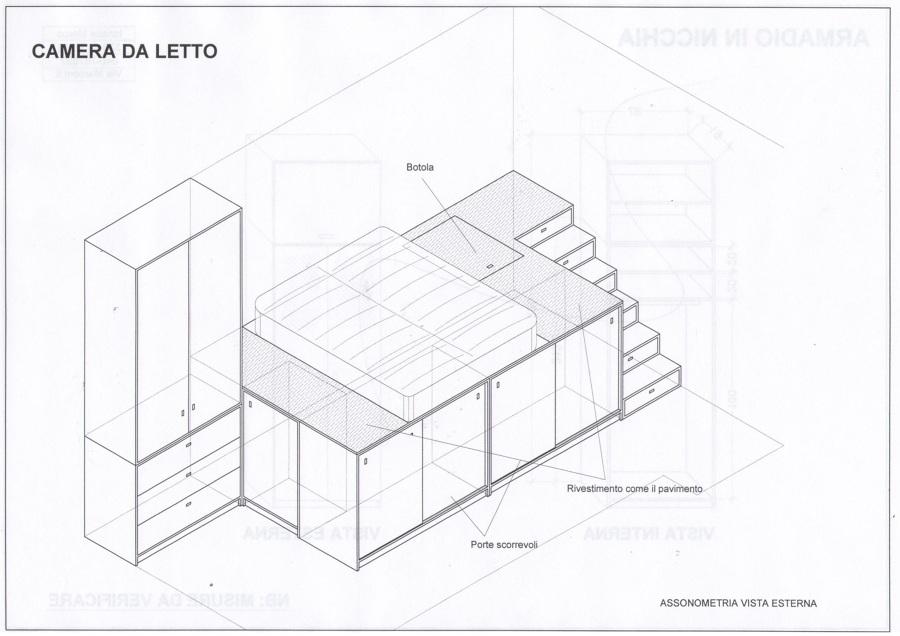 Foto: Progetto Camera da Letto di Falegnameria Felix a Trieste ...