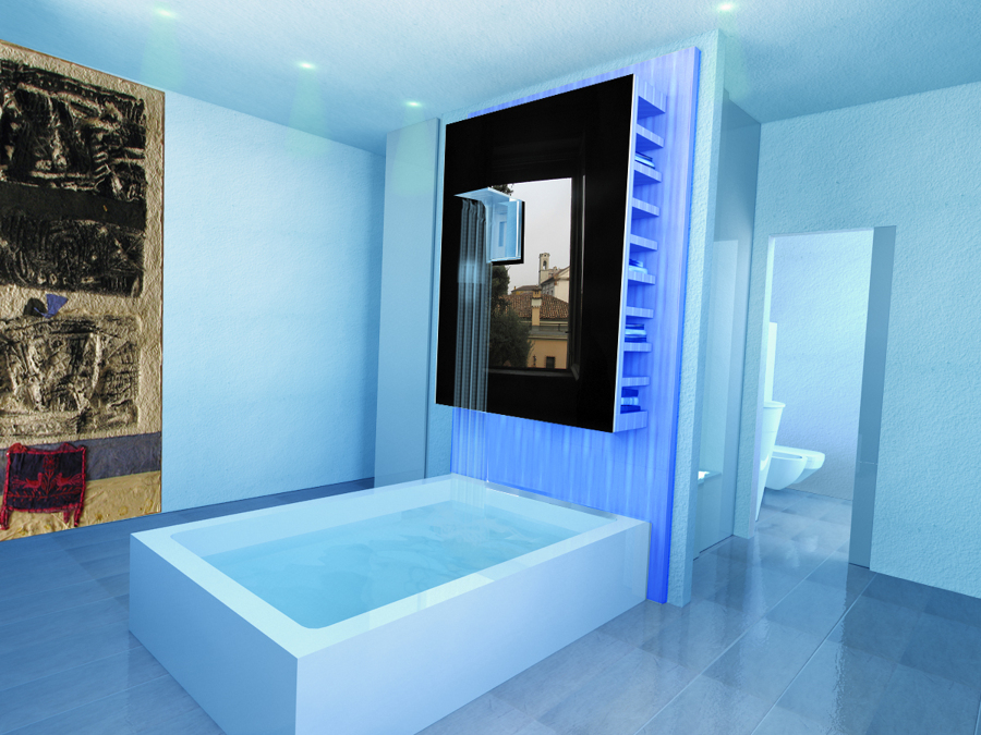 Progetto camera di albergo diffuso  20 mq. = 80mq.