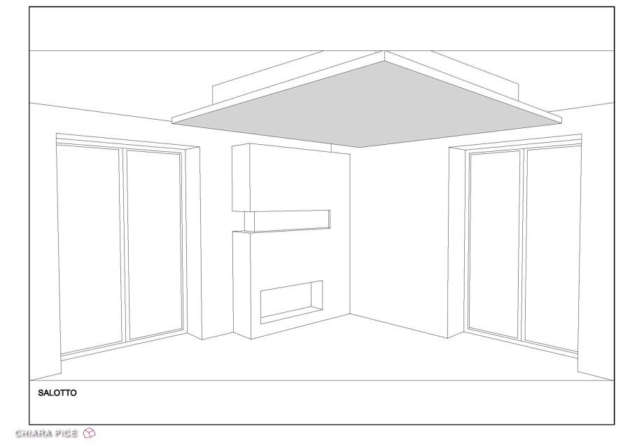 Progetto cartongesso soffitto e camino