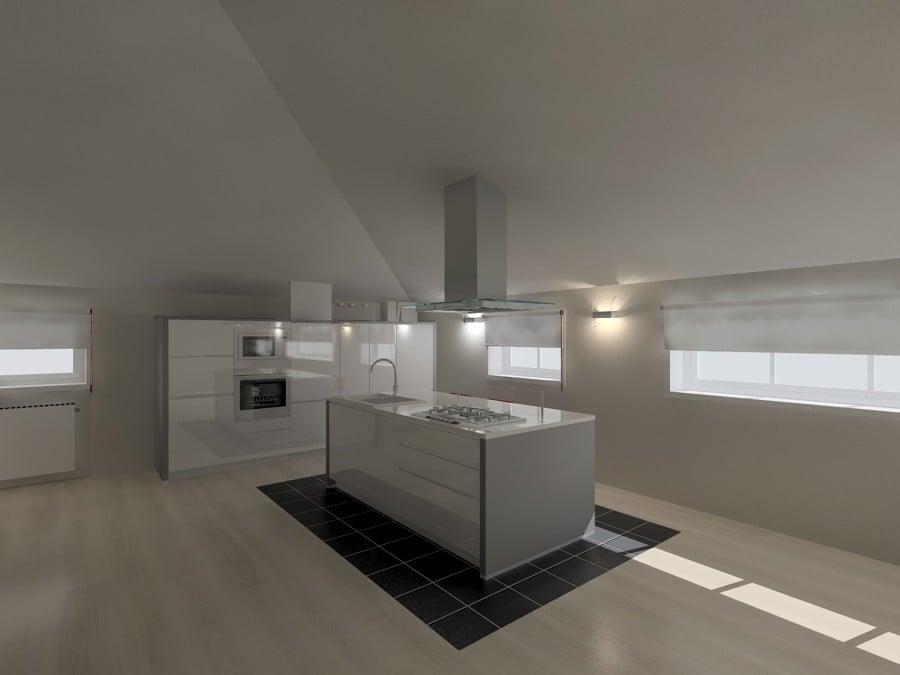 Progetto cucina in mansarda
