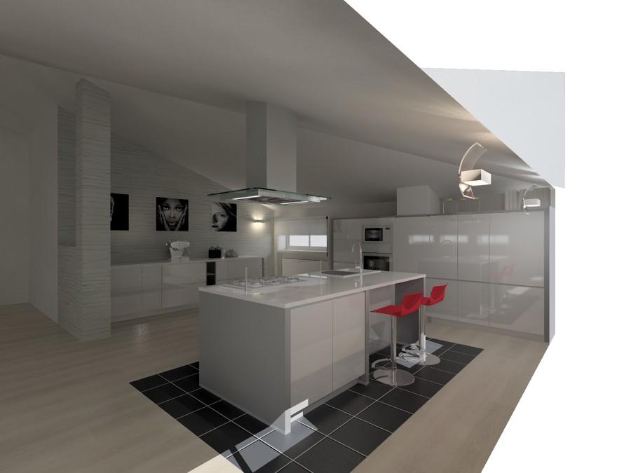 Foto: Progetto Cucina In Mansarda: L\'isola di Luca Riccardo ...