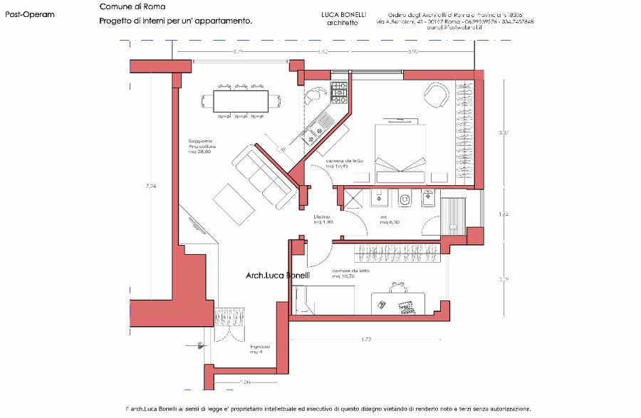 Popolare Progettazione d' Interni Per una Appartamento In Roma | Idee  YA49