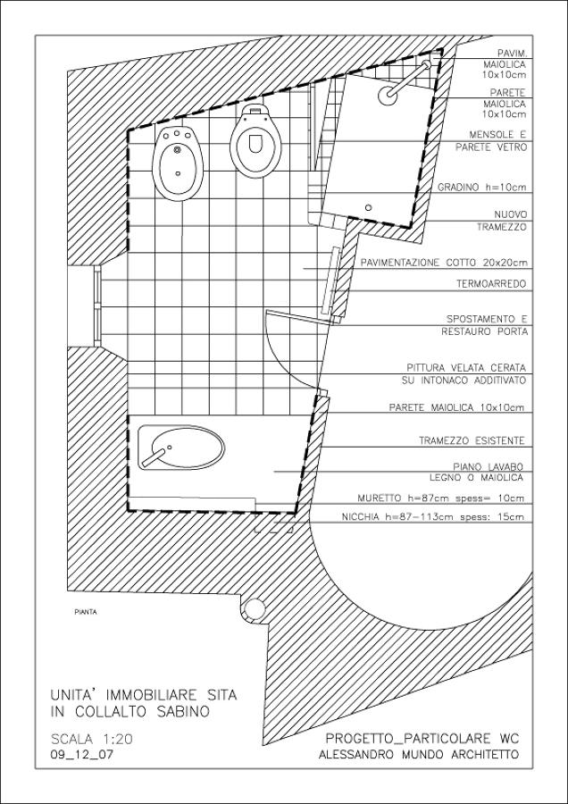 Progetto del bagno