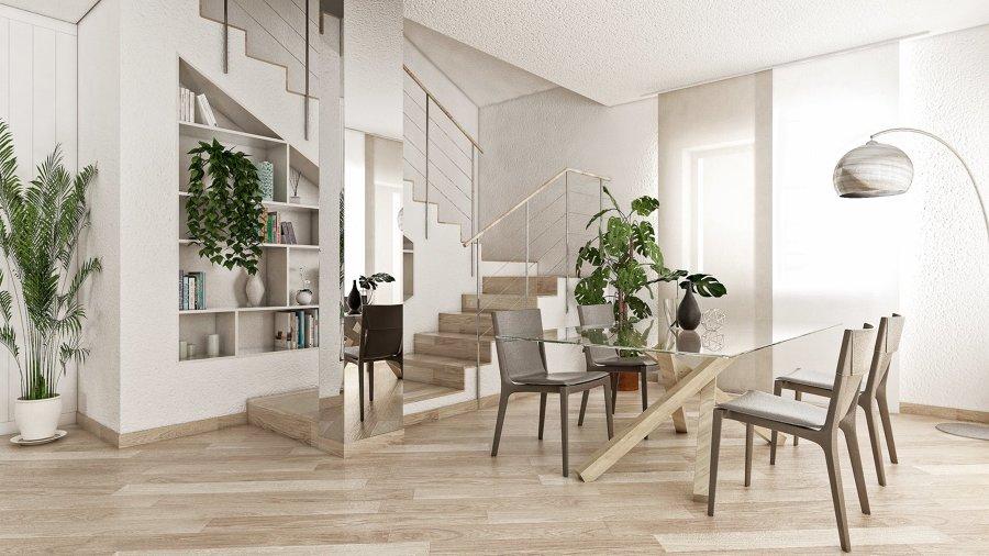 Progetto del soggiorno - zona pranzo e nuova scala