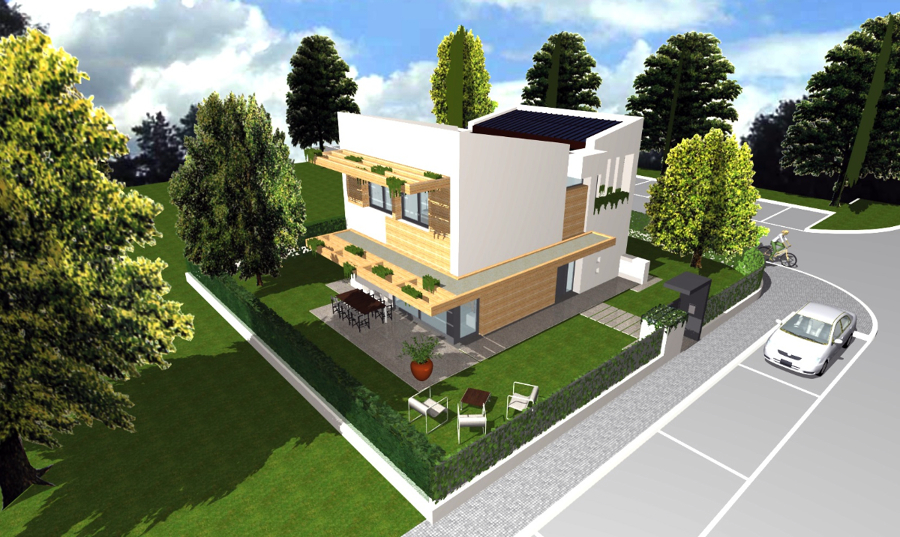 Progetto di casa unifamiliare compatta idee architetti for Case di architetti