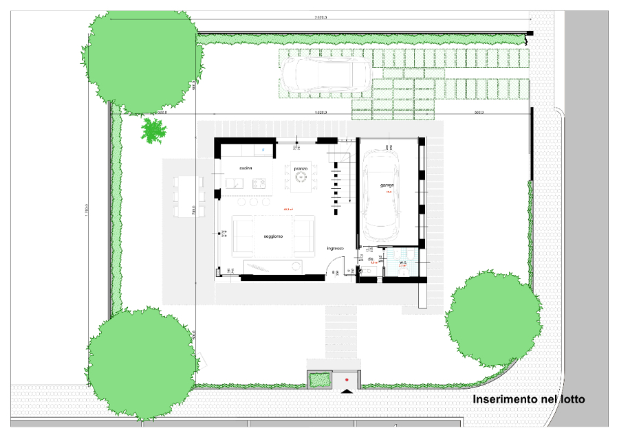 Progetto di casa unifamiliare compatta idee architetti for Idee di piano di garage
