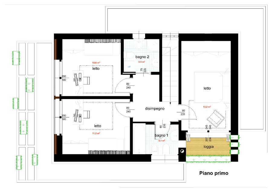 Foto progetto di casa unifamiliare compatta 140 mq di for Progetti di casa moderna