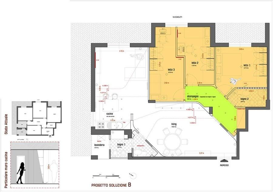 foto progetto di ristrutturazione di un appartamento