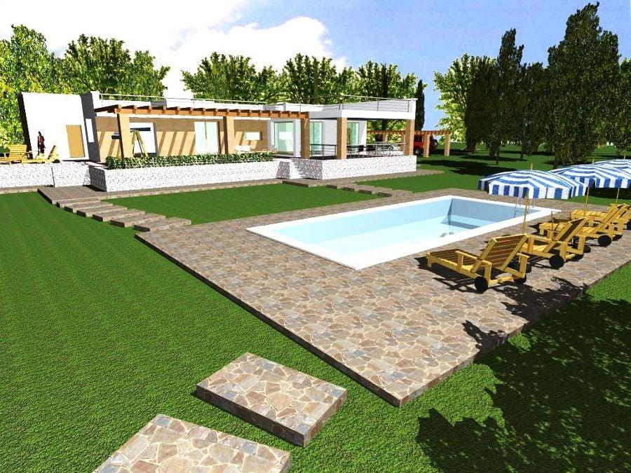 Progetto con render e costruzione di villa con piscina in puglia idee costruzione case - Progetto villa con piscina ...
