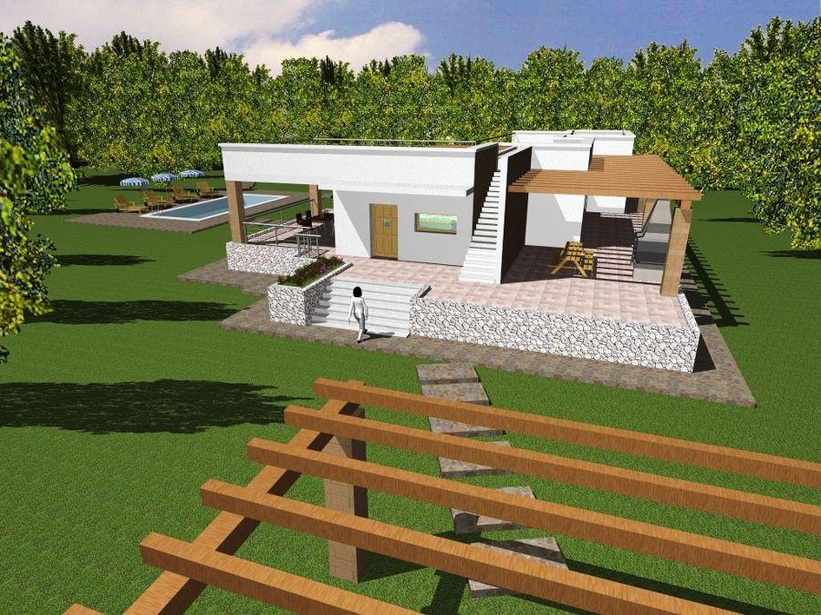 Affordable foto progetto e costruzione di villa con for Ville di campagna progetti