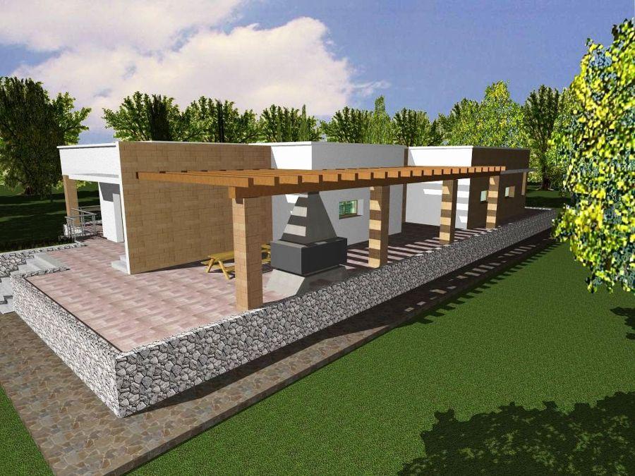 Progetto con render e costruzione di villa con piscina in for Piani di progettazione domestica con foto