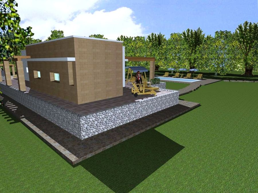 Progetto con render e costruzione di villa con piscina in puglia idee costruzione case - Progetti ville con piscina ...