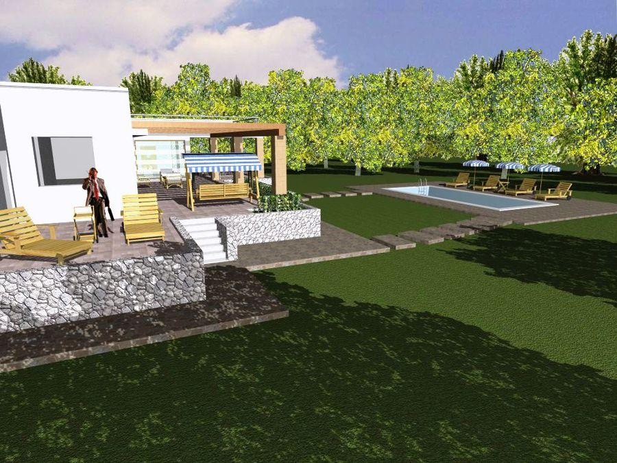 Foto progetto e costruzione di villa con piscina in - Progetto villa con piscina ...