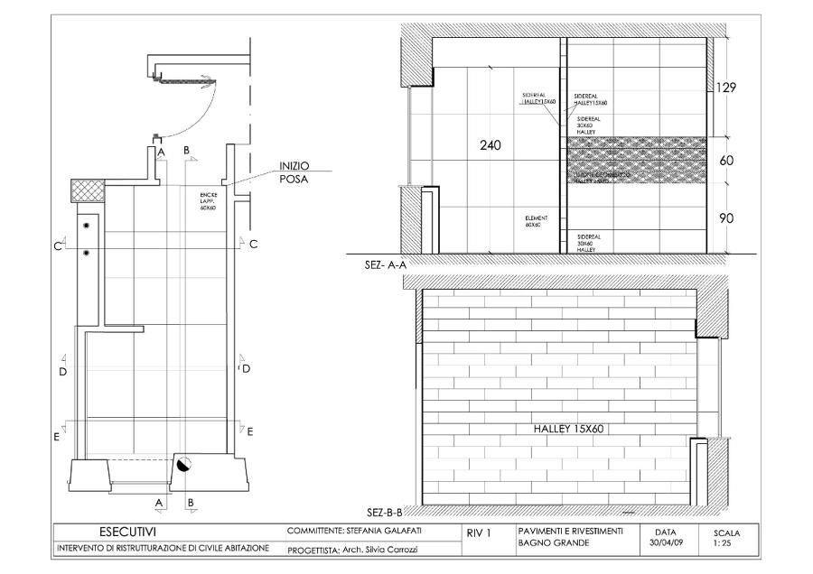 Foto progetto esecutivo appartamento roma via lizzani di for Progetto ristrutturazione appartamento