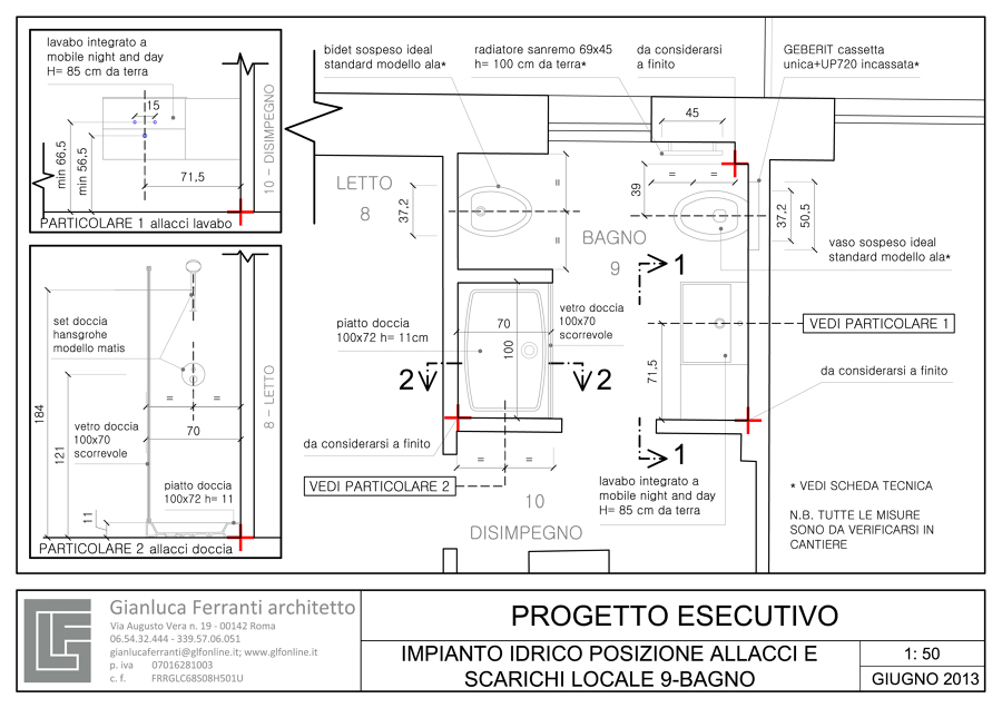 Interesting progetto esecutivo locale bagno with bagno - Progetto bagno online ...