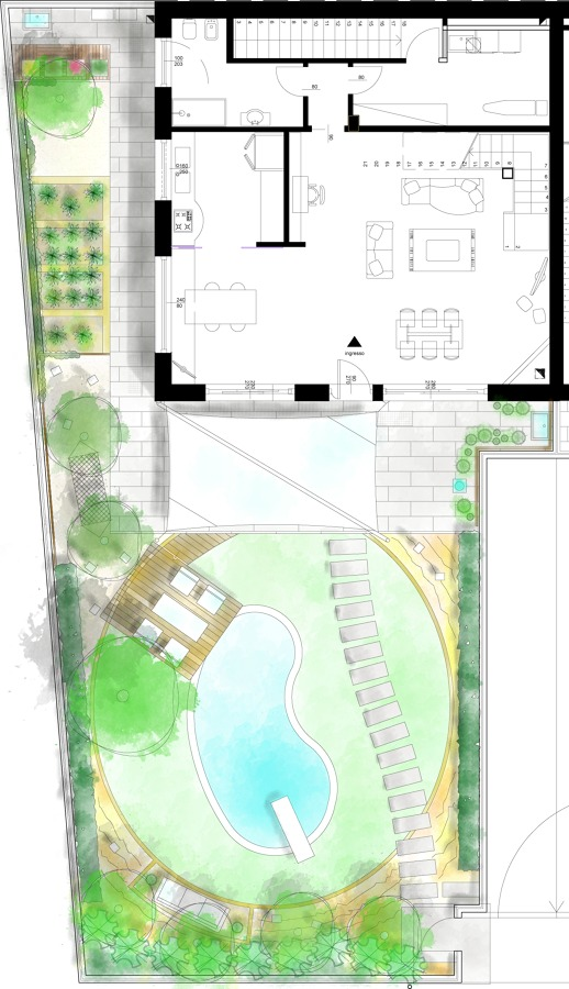 Progettazione giardini a bergamo e provincia idee - Progetto per giardino ...