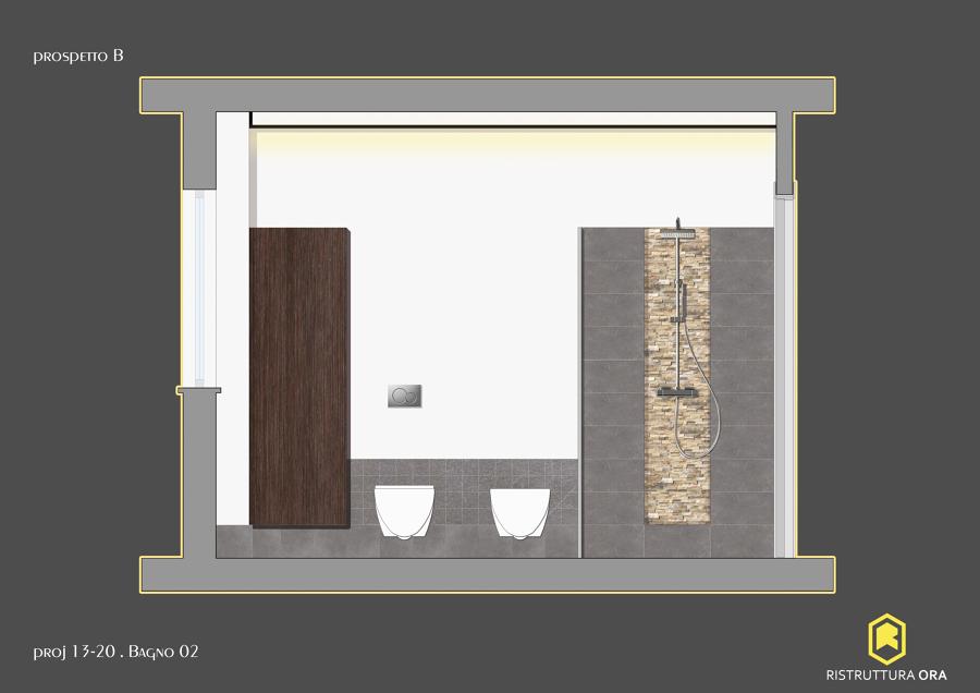 Progetto per la ristrutturazione di un bagno di 6mq idee - Progetto bagno 2 mq ...